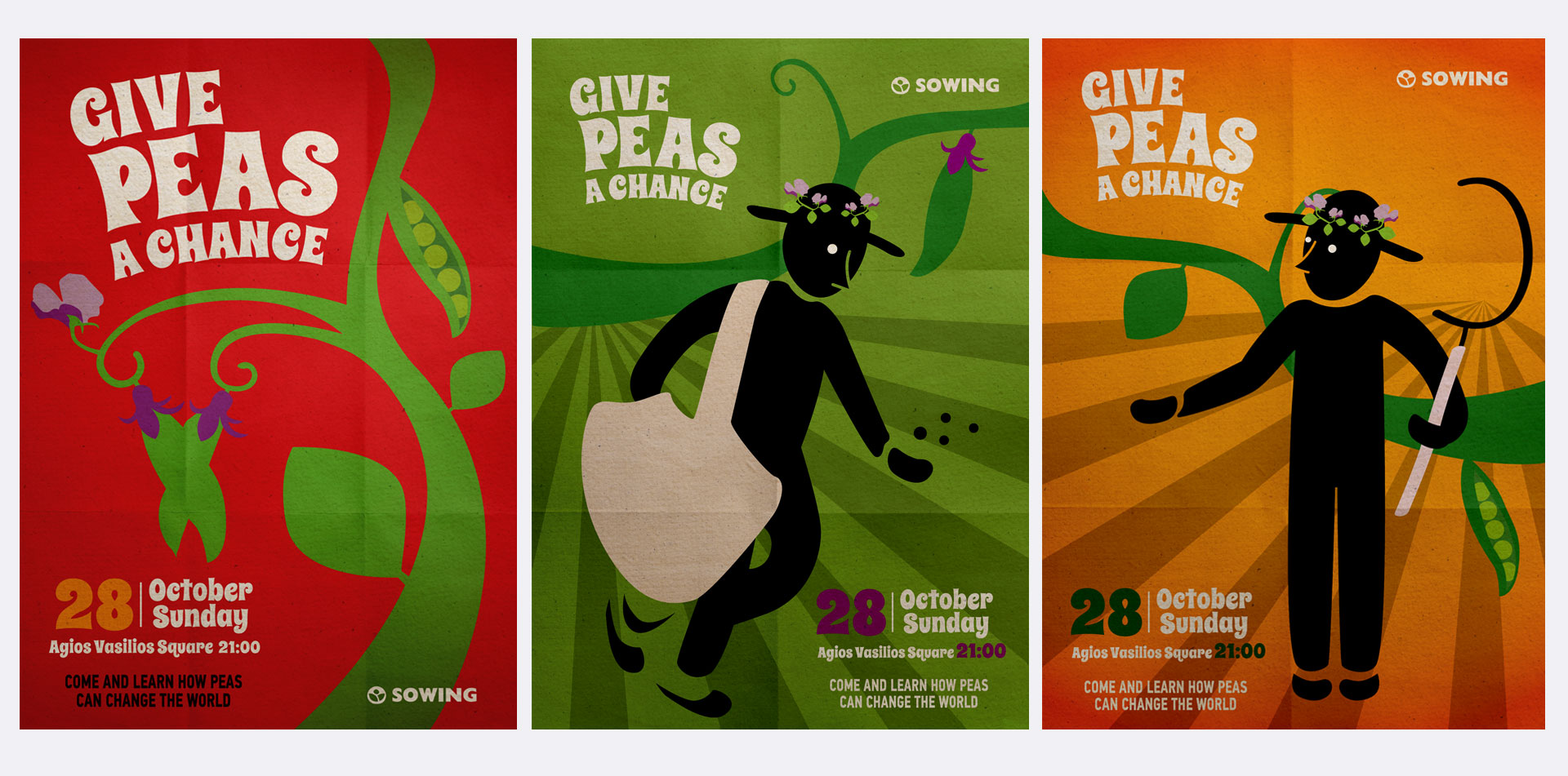 posters give peas a chance