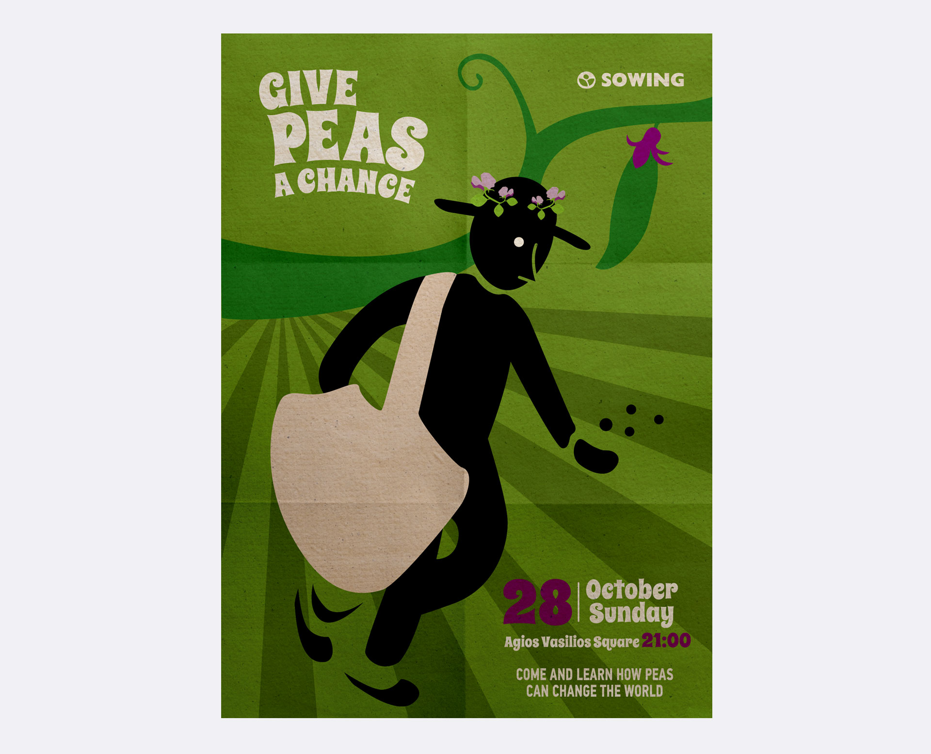 poster give peas a chance